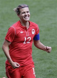 Christine Sinclair, captain of Canada's olympic soccer team