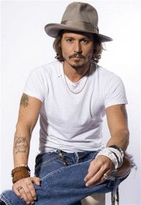 Johnny Depp in Plain White Tee