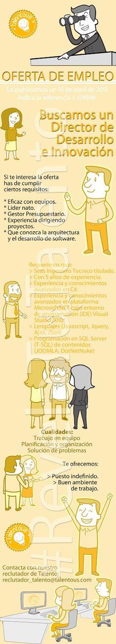 Oferta de #empleo descrita en una #infografía
