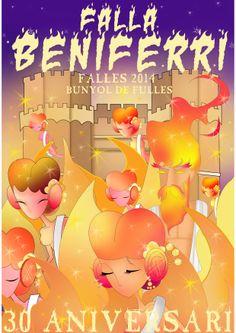 Portada del llibret de fiestas 2014. 30 aniversario de la Falla Beniferri