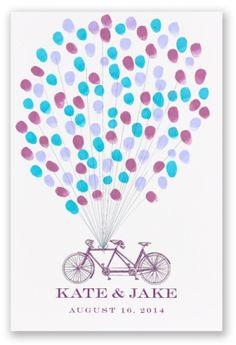 Tandem Bicycle Guest Book Alternative