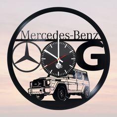 Mercedes-Benz Vinyl Record Wall Clock Fan Car Design - VINYL CLOCKS