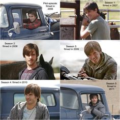 #Graham_Wardle as character #Ty_Borden on #Heartland, from age 17 to 22, corresponding to seasons 1 through 5. he has changed so much and now look at him season 6