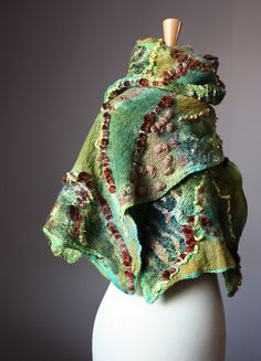 Nuno Felted Shawl by VitalTemptation on Etsy