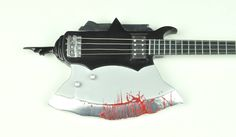 Axe bass made by Arturo Valdez in 1979, 1st version. KISS Gene Simmons Axe bass collection 1/4 scaled miniature collection. visit us at https://www.facebook.com/KISS.my.Axe.basses.group/ MyLittleGuitar #kiss #axebass #genesimmons #bassmodel