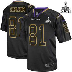 Men\s Nike Baltimore Raven\s http://#81 Anquan Boldin Elite Lights Out Black With Super Bowl Patch Jersey$129.99