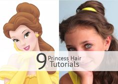 Disney Hairstyles 6 Disney Princess Hairstyles And Tutorials  Pinterest  Princess