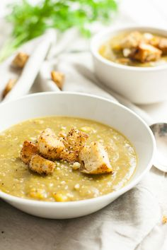 This vegetarian split pea soup recipe is full of carrots, potatoes ...