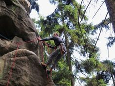 Climbing - Medium - Climbing is amazing. Rappelling, Czech Republic, Climbing, Lion Sculpture, Statue, Adventure, Medium, Amazing, Mountaineering
