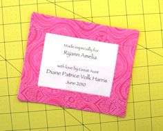 A Quick Quilt Label Method #quilting