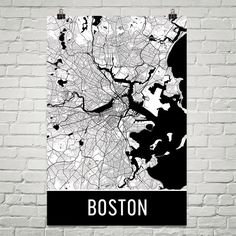 Boston Map Art Print, Boston MA Art Poster, Boston Wall Art, Map of Boston, Boston Print, Boston Gift, Birthday, Decor, Modern, Art