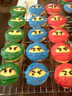 Ninjago cupcakes. I could do this
