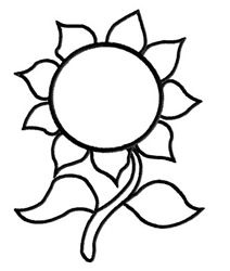 Sunflower template for embroidering