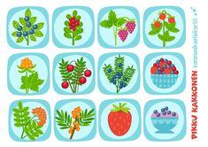 Kommunikaatiokortit | marjat I lapset | perhe | koti | arki | kalenteri | askartelu | paperi | paper | DIY ideas | communication | communication card | berries I kid crafts | Pikku Kakkonen | yle.fi/lapset