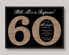60th Birthday Invitation Milestone Birthday by thepaperblossomshop