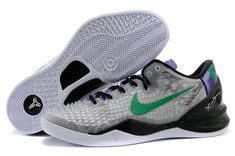 free shipping d2095 4d6b2 Kobe 8 SS Christmas Black Atomic Green Cool Grey Black Kobe Shoes, New Nike  Shoes