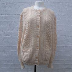 Knit cardigan ladies wool top handknitted cardigan by Regathered