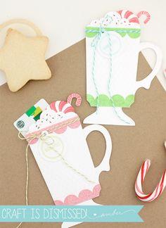 Christmas Cocoa Gift Card Holder - Damask Love