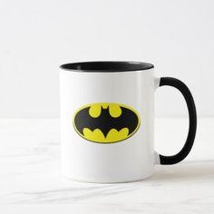 Cool Batman Logo Mug - logo gifts art unique customize personalize