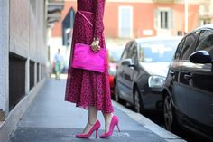 Pink panther look and Valentino dress