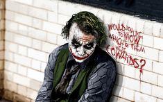 batman, the joker, heath ledger, batman the dark knight Joker Heath, Joker Batman, Comic Del Joker, Der Joker, Batman Dark, Joker Art, Joker Villain, Heath Legder, Heath Ledger Joker Wallpaper