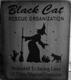 Black Cats Halloween witch decorations rescue organization Cat art signs Primitive Witches Sign Country Farmhouse Folk Art Painting Plaques  by SleepyHollowPrims for $24.30