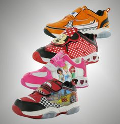 Kids Character Light Up Trainers From £19.99. Choose from Disney Planes, Minnie Mouse, Disney Princess, Disney Cars and other characters!