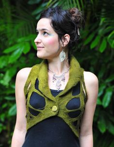 Felt Elven Pixie Leaf vest