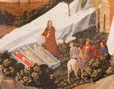 Fra Angelico, Scènes de la Thébaïde (détail). Vers 1430-1435. Tempera sur panneau. 27,5 x 38,5 cm.