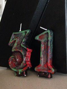 Bougies d'anniversaire zombie