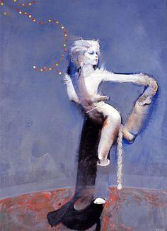 "Robert Heindel ""Victoria the white cat"""