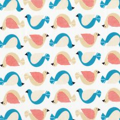 Birdsong | White from Backyard Garden {Jo-ann Stores} by Michelle Engel Bencsko for Cloud9 Fabrics