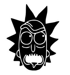 Rick And Morty Rick Face Decal Sticker Pumpkin Stencil, Pumpkin Carving, Rick Und Morty Tattoo, Rick And Morty Stickers, Ricky And Morty, Rick And Morty Poster, One Piece Drawing, Drawing Stuff, Embroidery Tattoo