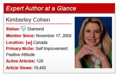 Expert Author Kimberley Cohen shares her article writing insights on the EzineArticles Blog.