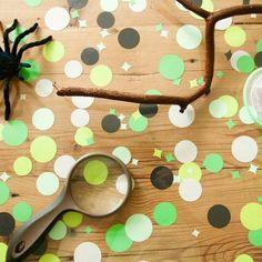 Confetti rond Groen