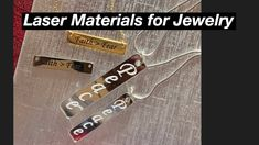 Laser Materials for Jewelry-#23 - YouTube Diy Jewelry Videos, Laser Engraving, Personalized Items, Youtube, Accessories, Youtubers, Youtube Movies, Jewelry Accessories