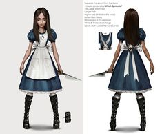 Alice: Asylum is currently a hypothetical video game proposal by American McGee as part of his vision for the series. It would be the third video game installment in the Alice series. Asylum is a chronological prequel to American McGee's Alice. Dark Alice In Wonderland, Adventures In Wonderland, Alice Cosplay, Alice Liddell, Alice Madness Returns, Scary Art, Arte Horror, Asylum, Fashion Art
