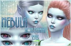 "Mod The Sims - ""Nebula"" - 10 Non-Default Alien Eyes (Also for humans!)"