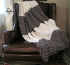Grey Street Crochet Blanket.