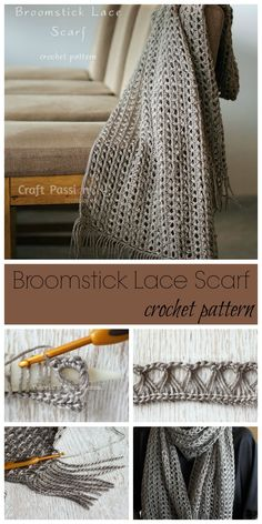 Learn how to crochet cozy lovely elegant Broomstick Lace Scarf. Beginner level, must know how to crochet chain, single crochet, slip stitch to make this.