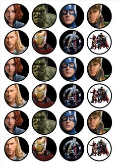 Avengers 24 x 4.5cm Edible Premium by CiansCupcakeToppers on Etsy