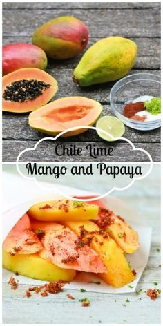 Chile Lime Mango and Papaya | A Spicy Perspective #snack #fruit #lime by jean