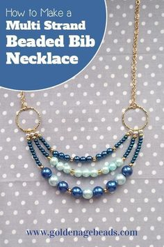 In this tutorial, we'll show you how to make a three strand beaded necklace that's versatile enough to be worn with any outfit! This project is great for beginners as there are just a few basic… #howtomakejewelryforbeginners #necklaceprojects
