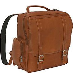 $178.39, also in dark brown & black Piel Vertical Leather Laptop Backpack - Saddle - via eBags.com!