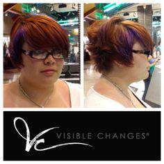 A little pop of purple color for the Summer! Salons, Change, Pop, Purple, Summer, Hair, Color, Whoville Hair, Colour