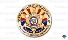 Maricopa County Sheriff Badge 6 Star Circle Badge