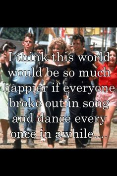 Nothing wrong with a little song and dance