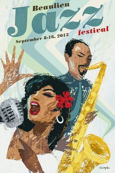 Jazz Poster on Behance by Michael Crampton Jazz Festival, Festival Posters, Concert Posters, Music Posters, Theatre Posters, Retro Posters, Jazz Artists, Jazz Musicians, Jazz Poster