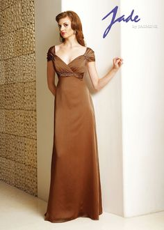 Jade J2220 Caramel size 10 Mothers Evening Dress In Stock