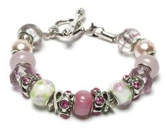 Michaels DIY Trinkettes Breast Cancer Awareness Bracelet..    Show your support by creating a pink Breast Cancer Awareness bracelet with Trinkettes components. This special bracelet makes a lovely gift.